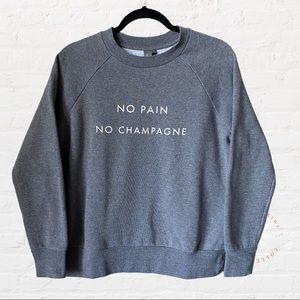 SWEATY BETTY No Pain No Champagne Pullover Sweater
